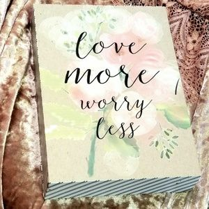 """Other - Small """"LOVE MORE WORRY LESS"""" Art Block Home Decor"""
